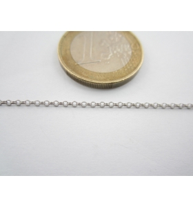 10 cm catena rolò classica di 1,3 mm argento 925 made in italy
