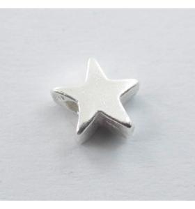 2 componenti stella 6x5 mm foro 2,5 mm argento 925