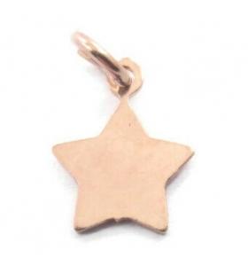 ciondolo charms stella 11x9 mm argento 925 placcato oro rosa