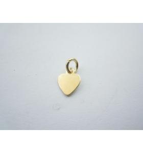 ciondolo charms cuore piccolo in argento 925 placcato oro giallo misure 12x7 mm