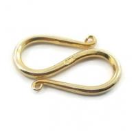chiusura etnica serpentina grande argento 925 placcato oro giallo