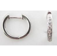 1 paio di orecchini cerchio e zirconi di 13,5 mm argento 925 rodiato