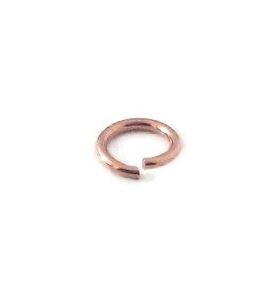 anellini aperti di 3,5 mm argento placcato oro rosa 6 pz.