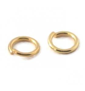 anellini aperti di 3,5 mm argento placcato oro giallo 6 pz.