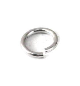 anellini aperti di 3,5 mm argento placcato rodiato 6 pz.