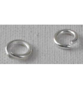 anellini aperti di 3,5 mm argento  6 pz.