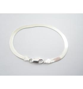 bracciale maglia morbida di 4,5 mm argento 925 lungo 19 cm made in italy