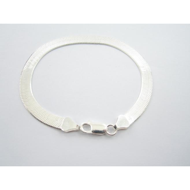 bracciale maglia morbida di 6 mm argento 925 lungo 19 cm made in italy