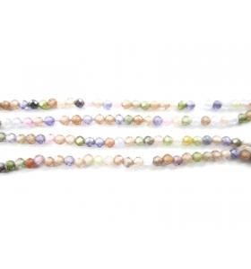 filo zirconi piccoli multi color pastello 2 mm tondi e sfaccettati 1 filo