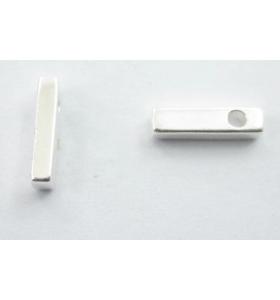 lettera iniziale I foro passante argento 925 di 8,5x2,5 mm