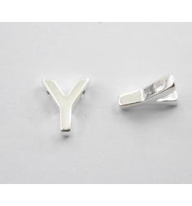 lettera iniziale Y foro passante argento 925 di 8,5x7,5 mm