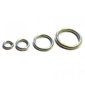 anellini saldati 5 mm argento 925 rodiati 4 pezzi