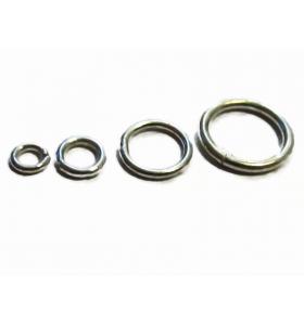 anellini saldati 4 mm argento 925 rodiati 4 pezzi