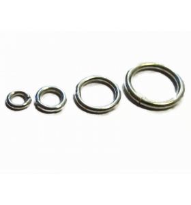 anellini saldati 6 mm argento 925 rodiati 4 pezzi