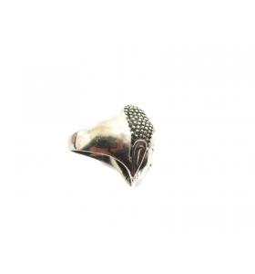 anello testa di buddha argento 925 misura da fuso 16