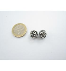 2 componenti in argentone tibetano 14x10 mm.