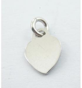 ciondolo charms cuore in argento 925 placcato oro rosa di 7,5x6 mm  1 pz