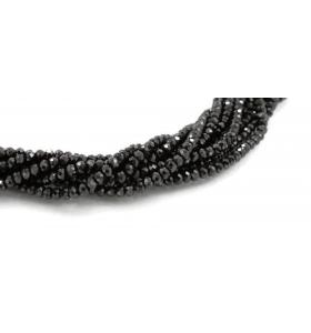 vendita filo pietre  in spinello nero rondelle  sfaccettato di 3x2,5 mm 1 pz.