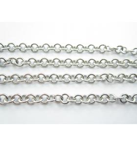 catena acciaio inossidabile modello tiffany anellini 5 mm spessore 2 mm 50 cm