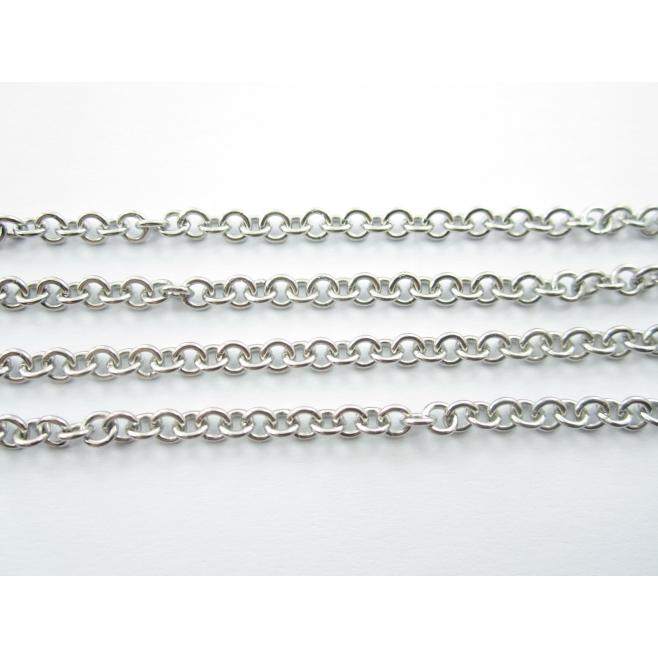 catena acciaio inossidabile modello tiffany anellini 4 mm spessore 1 mm 50 cm