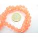 giada colore salmone scuro cabochon di 8 mm 6 pz