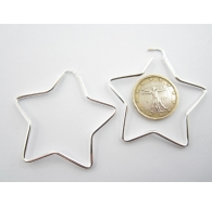 orecchini stella in argento 925 diametro 50 mm 1 paio