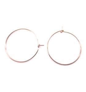 4 monachelle cerchio in filo rosè diametro 25 mm
