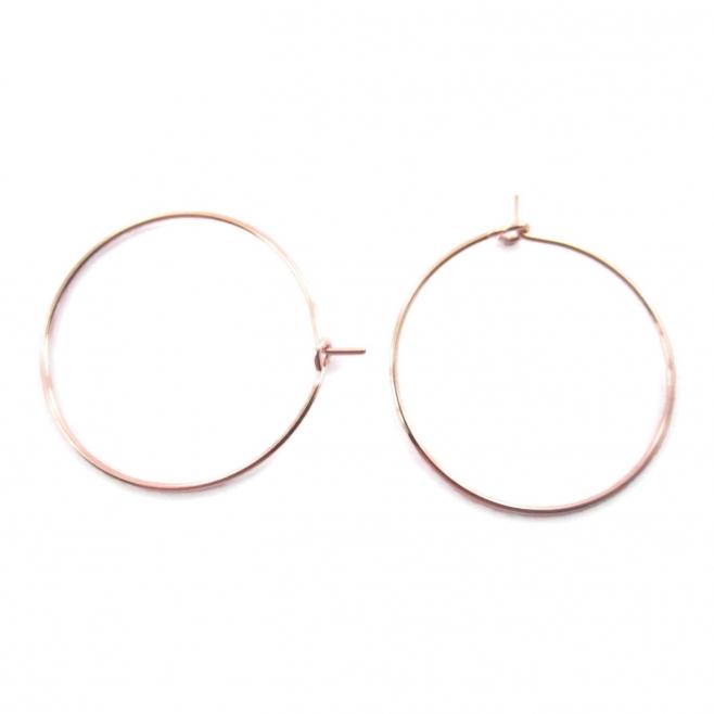 4 monachelle cerchio in filo rosè diametro 20 mm