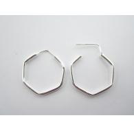 orecchini stella in argento 925 diametro 65 mm 1 paio