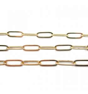 catena graffetta in acciaio chirurgico dorato di 14x5 mm 50 cm