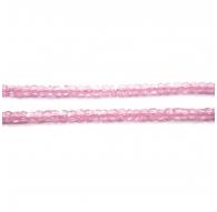 zirconi colore rosa rondella sfaccettati di 3 x 2,5 mm 1 filo lungo 33 cm