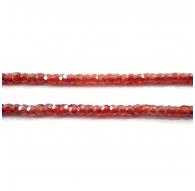zirconi colore arancione scuro rondella sfaccettati di 3 x 2,5 mm 1 filo lungo 33 cm