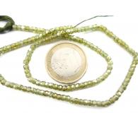zirconi colore verde scuro rondella sfaccettati di 3 x 2,5 mm 1 filo lungo 33 cm
