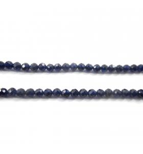 zirconi colore blu tonde sfaccettati di 3 mm 1 filo lungo 33 cm