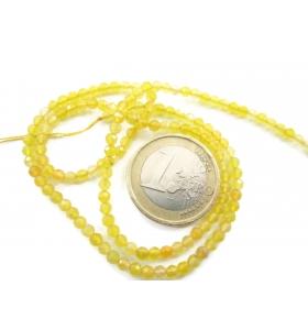 zirconi colore giallo limone tonde sfaccettati di 3 mm 1 filo lungo 33 cm
