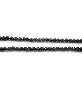 zirconi colore  nero  sfaccettati di 3 mm 1 filo lungo 33 cm