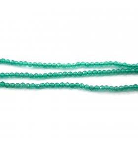 zirconi colore verde sfaccettati di 2 mm 1 filo lungo 33 cm