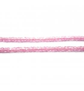 zirconi colore rosa rondella sfaccettati di 3 x 2,5 mm 25 pz.