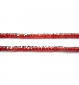 zirconi colore arancione rondella sfaccettati di 3 x 2,5 mm 25 pz.