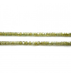zirconi colore verde rondella sfaccettati di 3 x 2,5 mm 25 pz.