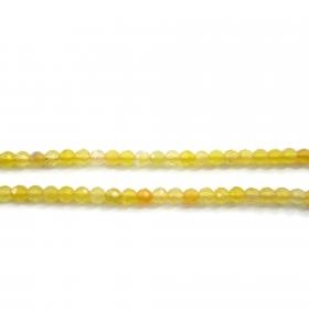 zirconi colore giallo limone tonda sfaccettati di 3 mm 25 pz.