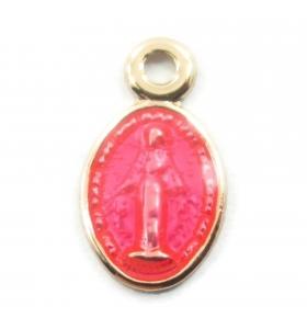 charms ciondolo madonnine smaltate color rosa 2pz