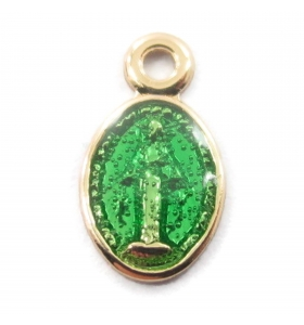 charms ciondolo madonnine smaltate color verde 2pz
