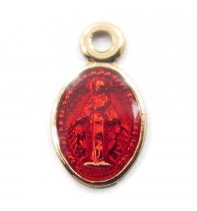 charms ciondolo madonnine smaltate color rosso 2pz