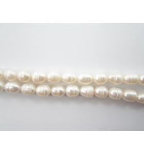 1 filo di perle bianche scaramazze coltivate i acqua dolce