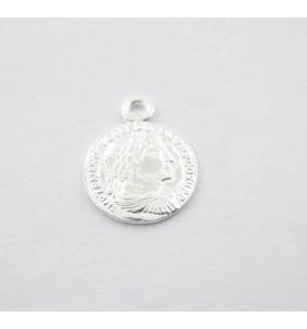 charms ciondolo moneta argento 925 di 8 mm 1 pz
