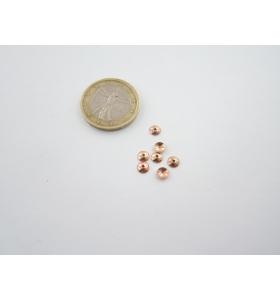 5 coppette piene copripietra argento plk oro rosè mm 5