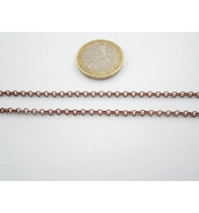 50 cm di catena in alluminio ovali  zigrinati e dorati  di 25x18 mm maglia aperta