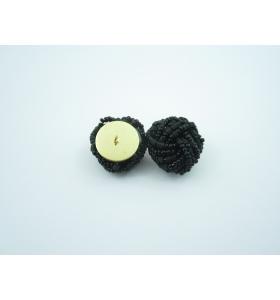 2 bottoni perline nere