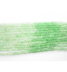 rondelle sfaccettate in kunzite verde nelle tonalità di tutti i suoi colori 1 filo